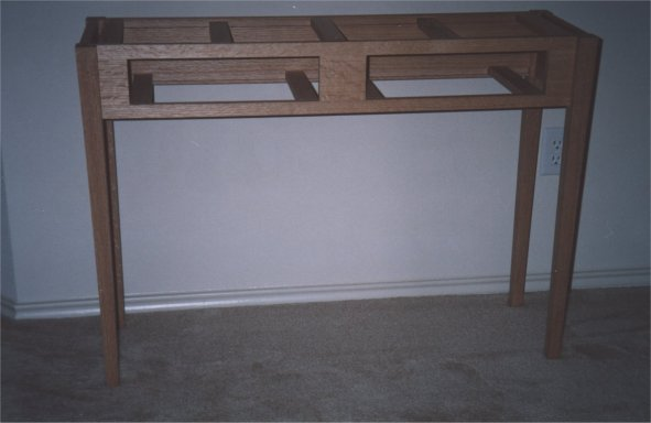Here Is The How The Table Will Look In The Hallway I Plan To Put It In.